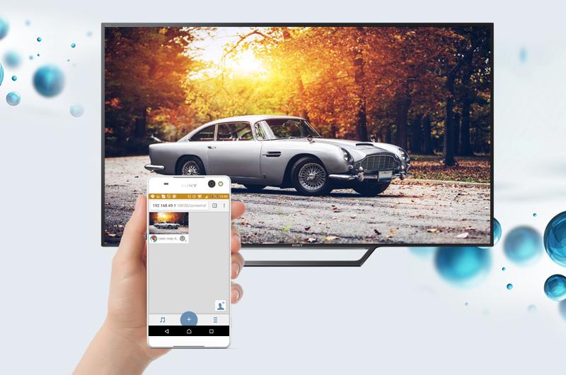 Internet Tivi Sony 40 inch 40W650D - Chia sẻ hình lên tivi