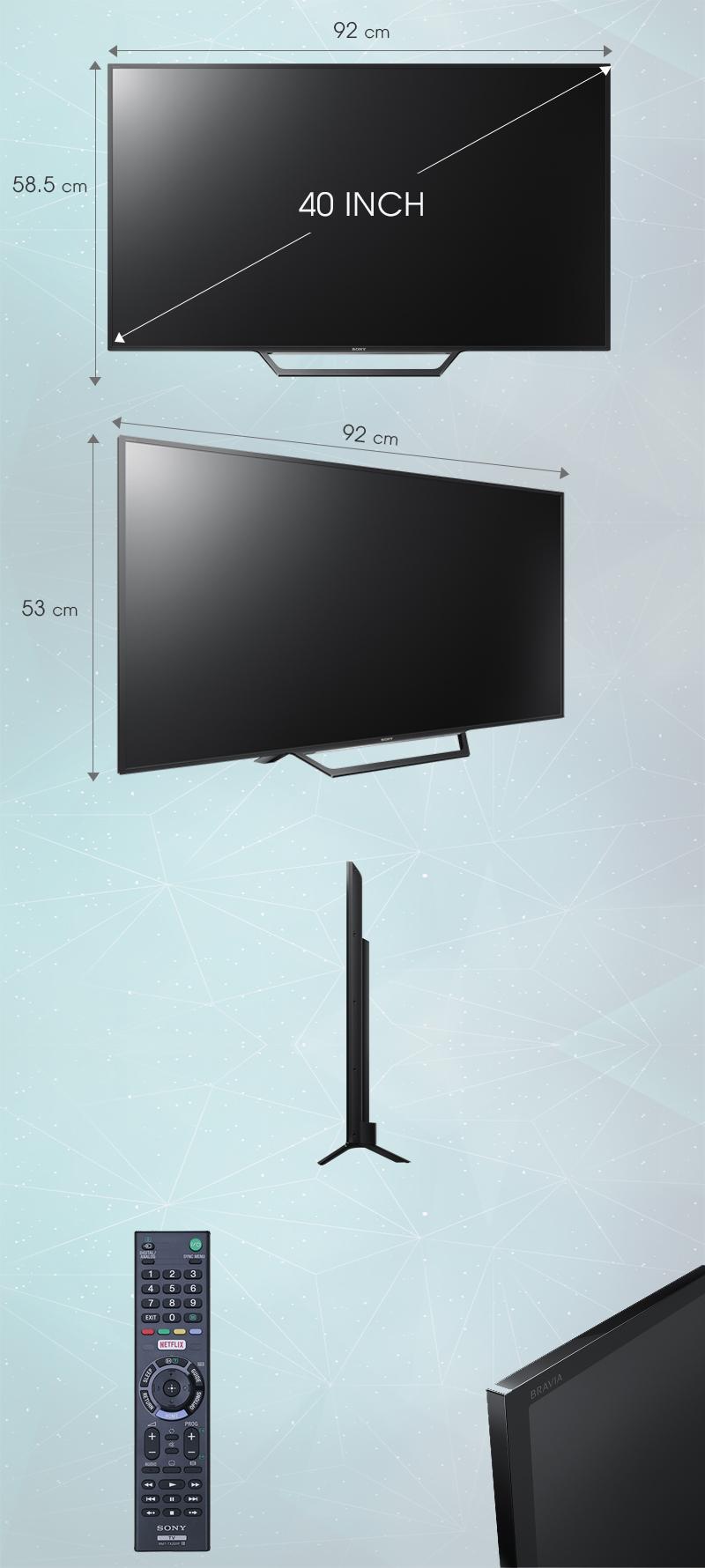 Màn hình của Sony KDL-40W650D