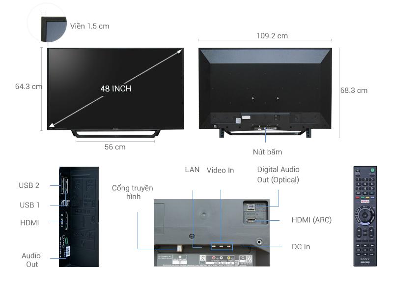 ảnh kỹ thuật Internet tivi sony KDL-48W650D