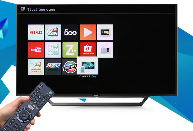 Tivi 48 inch KDL-48W650D chiếu màn hình từ điện thoại lên tivi