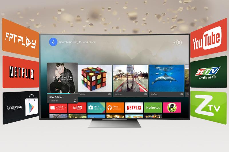 Ứng dụng hay trên Smart tivi KD-55S8500D