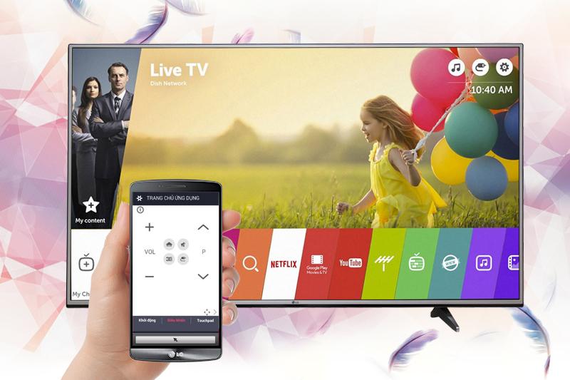 Smart Tivi LG 4K 43 inch 43UJ632T điều khiển tivi bằng phone