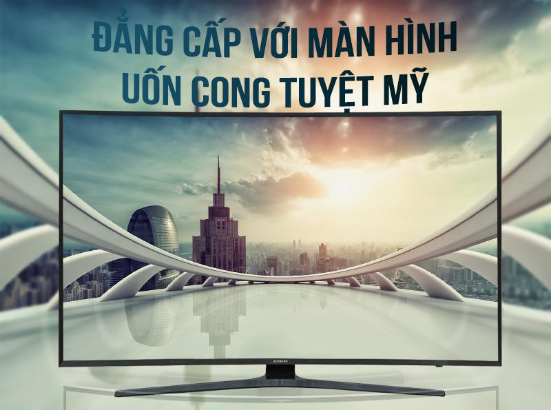 Smart Tivi Cong Samsung 4K 55 inch UA55KU6500 Màn hình cong