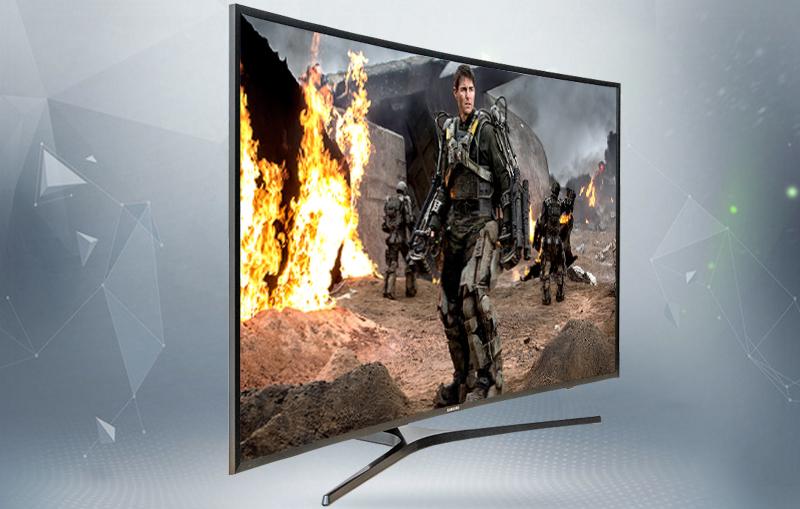 Smart Tivi Cong Samsung 4K 55 inch UA55KU6500 Độ tương phản cao