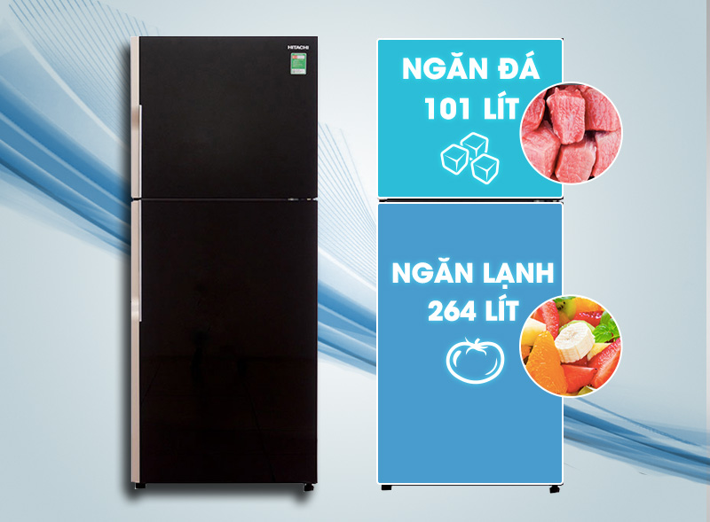 Dung tích tủ lạnh Hitachi R-VG440PGV3 (GBK)