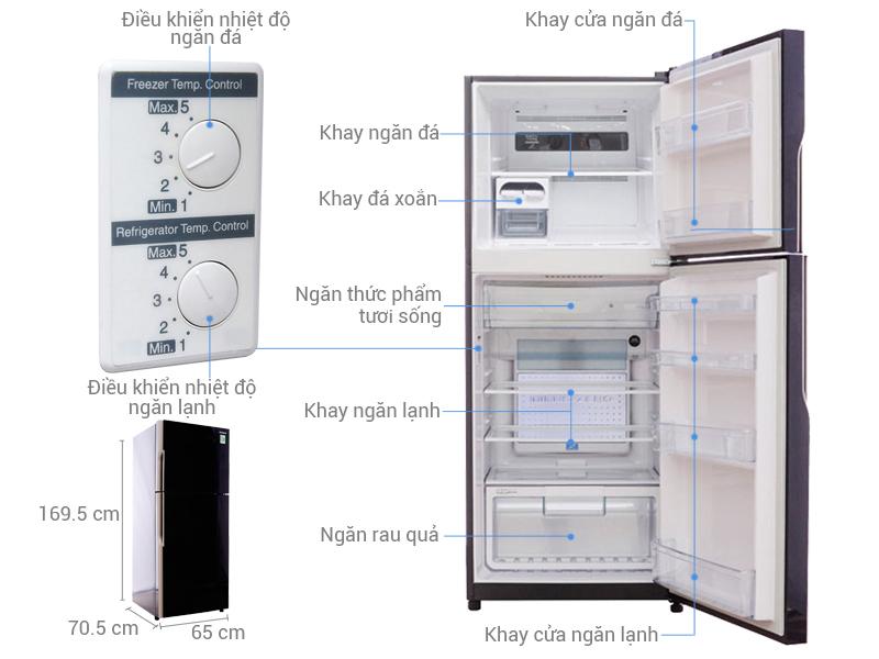 Tủ lạnh R-VG400PGV3 (GBW) ảnh ký thuật