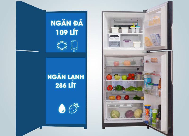 Dung tích tủ lạnh Hitachi R-VG470PGV3(GBK)
