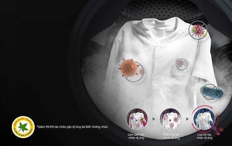 Máy giặt LG FC1408S4W1 diệt khuẩn