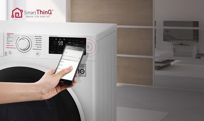 Máy giặt LG FC1408S4W1 chuẩn đoán thông minh