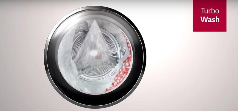 Tubo wash trên máy giặt LG inverter 9 kg FC1409S2E