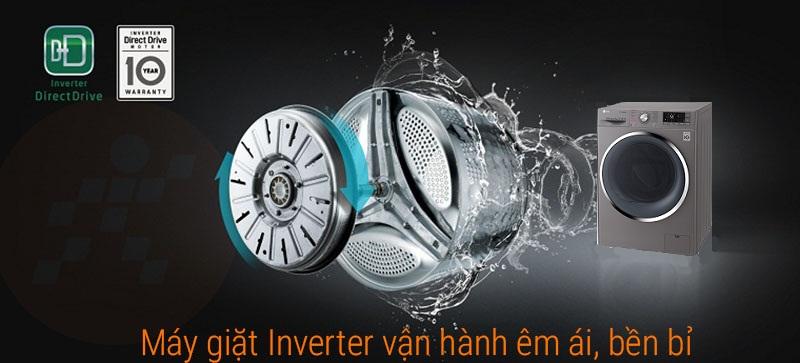 Máy giặt LG inverter 9 kg FC1409S2E động cơ dẫn động trực tiếp