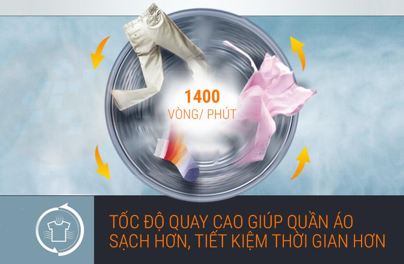 Máy giặt LG inverter 9 kg FC1409S2E tốc độ vắt cao