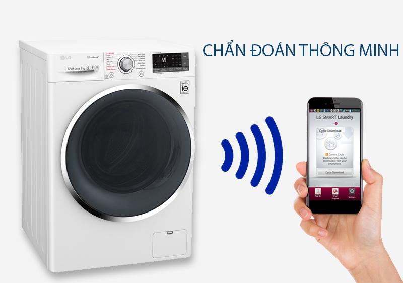 Máy giặt LG FC1409S2W - chuẩn đoán thông minh
