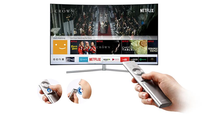 Smart Tivi QLED 65 inch 4K Samsung QA65Q7F smart remote