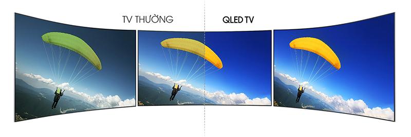 Smart Tivi QLED 65 inch 4K Samsung QA65Q7F Góc quan sát rộng