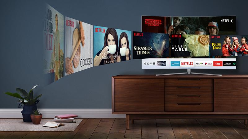 Smart Tivi QLED 4K Samsung 49 Inch QA49Q7F Đa dạng các ứng dụng