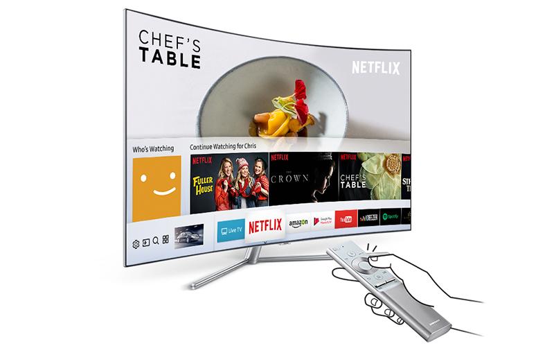 Smart Tivi QLED 4K Samsung 49 Inch QA49Q7F remote thông minh dễ sử dụng