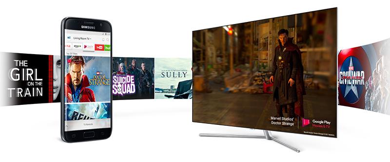 Smart Tivi QLED 4K Samsung 49 Inch QA49Q7F trình chiều màn hình lên tivi