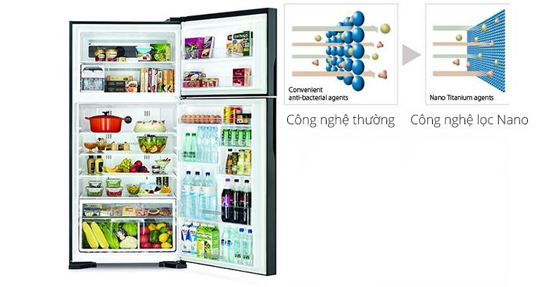 tủ lạnh R-T230EG1 với công nghệ khử mùi