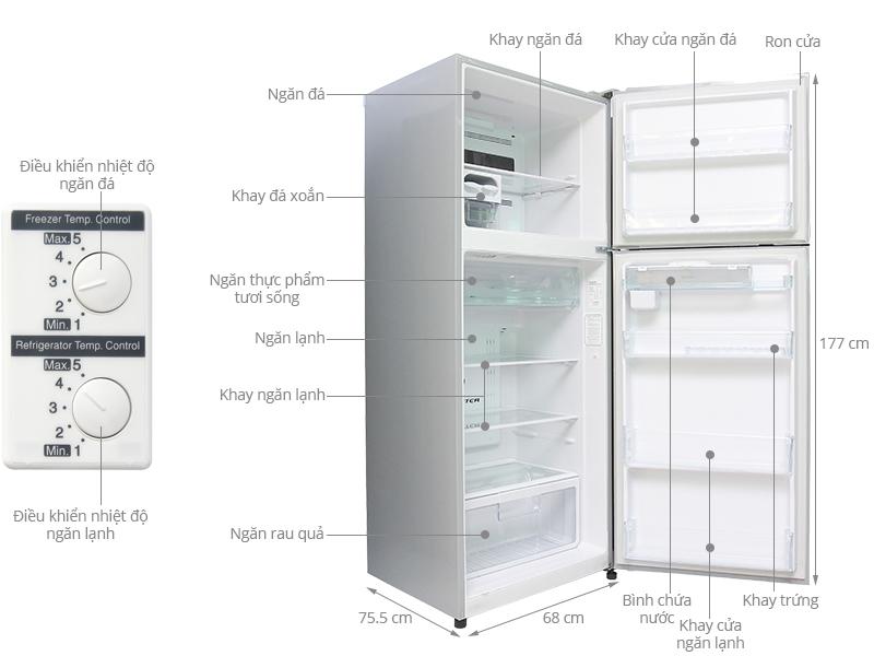 ảnh kỹ thuật tủ lạnh R-V470PGV3D
