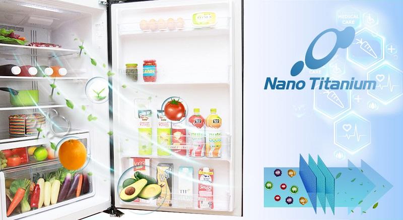 màng lọc nano trên tủ lạnh R-VG540PGV3