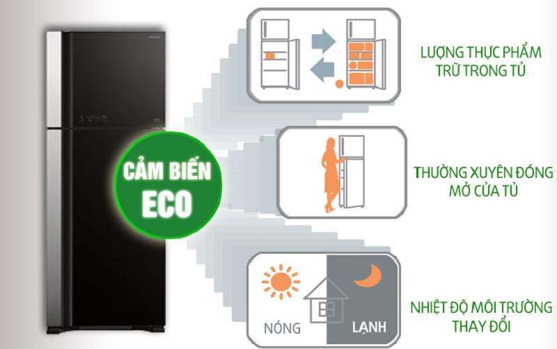 tủ R-VG540PGV3 trang bị cảm biến eco
