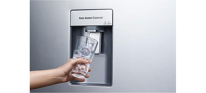 Tủ lạnh Samsung Inverter 362 lít Twin Cooling Plus RT35K5982 DX lấy nước lạnh bên ngoài