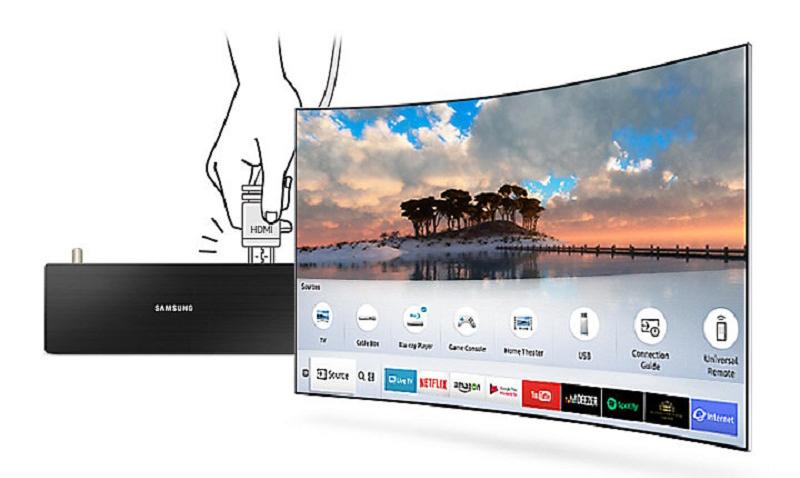 Smart Tivi 4K Samsung 82 inch UA82NU8000 one conect