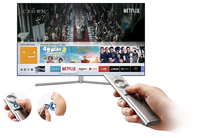 Smart Tivi 4K Samsung 82 inch UA82NU8000 hệ điều hành thông minh