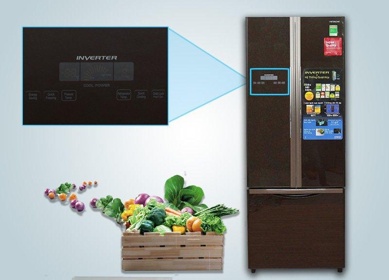 Tủ lạnh Hitachi 382 lít R-WB475PGV2-GBK Chức năng điều khiển cảm ứng