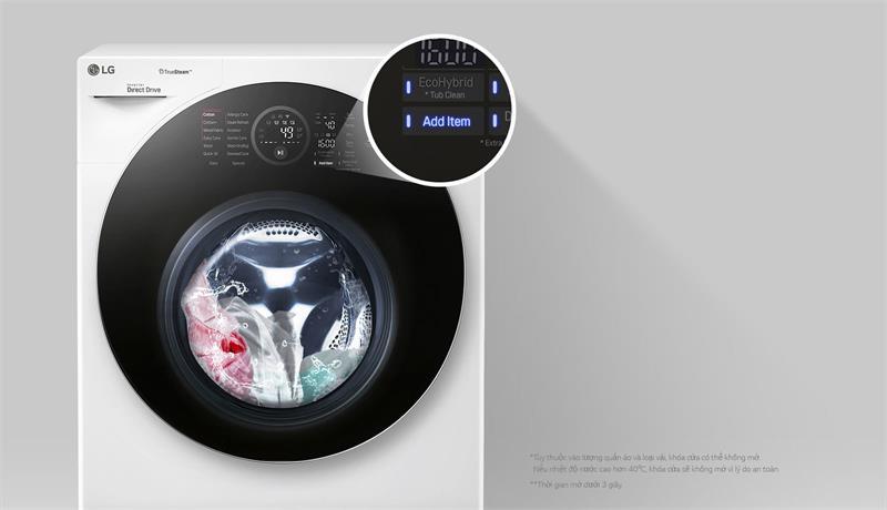 Máy giặt LG Inverter 10.5 kg FG1405S3W có thể thêm đồ trong lúc giặt