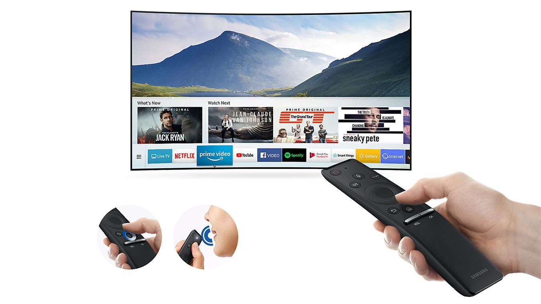 Smart Tivi 4K Samsung UA55NU7500 Smart remote