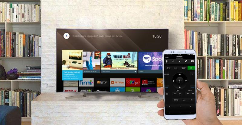 Điều khiển tivi KD-49X9000Fbằng điện thoại