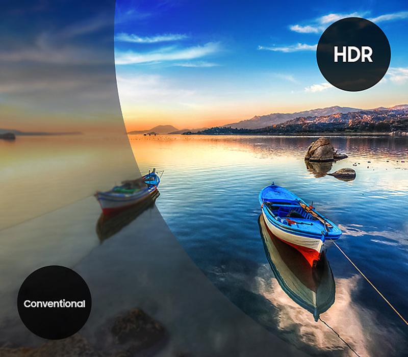 HDR trên tivi KD-55X8500F tăng cường độ sáng