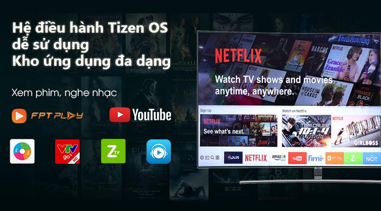 Smart Tivi QLED Samsung 4K 55 inch QA55Q8CNAKXXV Hệ điều hành tizen Os
