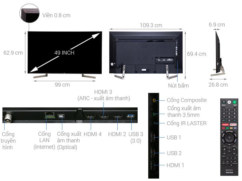 ảnh kỹ thuật KD-49X9000F