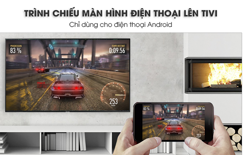 Smart Tivi Samsung 4K 43 inch UA43NU7100 Trình chiếu màn hình điện thoại lên tivi