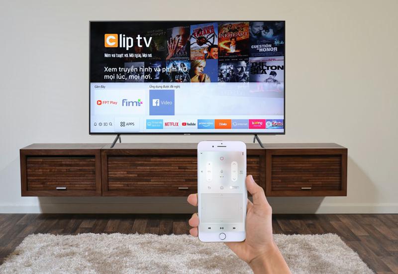 Smart Tivi Samsung 4K 75 inch UA75NU7100 ứng dụng ĐT