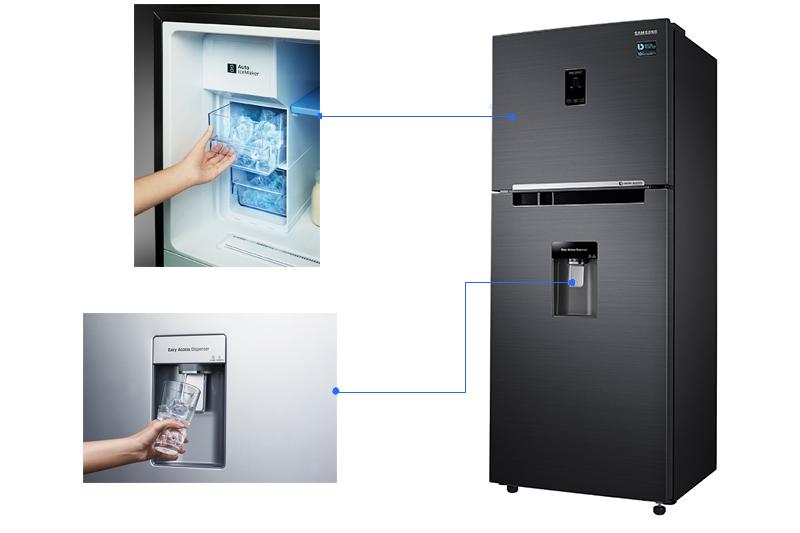 Tủ lạnh Samsung 360 lít Inverter RT35K5982BS/SV làm đá tự động, lấy nước ngoài
