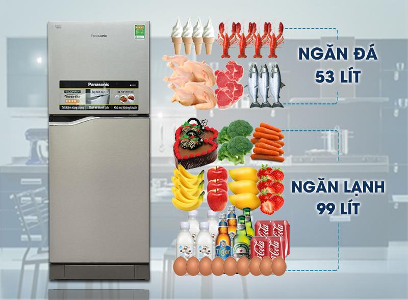 Tủ lạnh Panasonic 152 lít NR-BA178PSVN Thiết kế sang trọng
