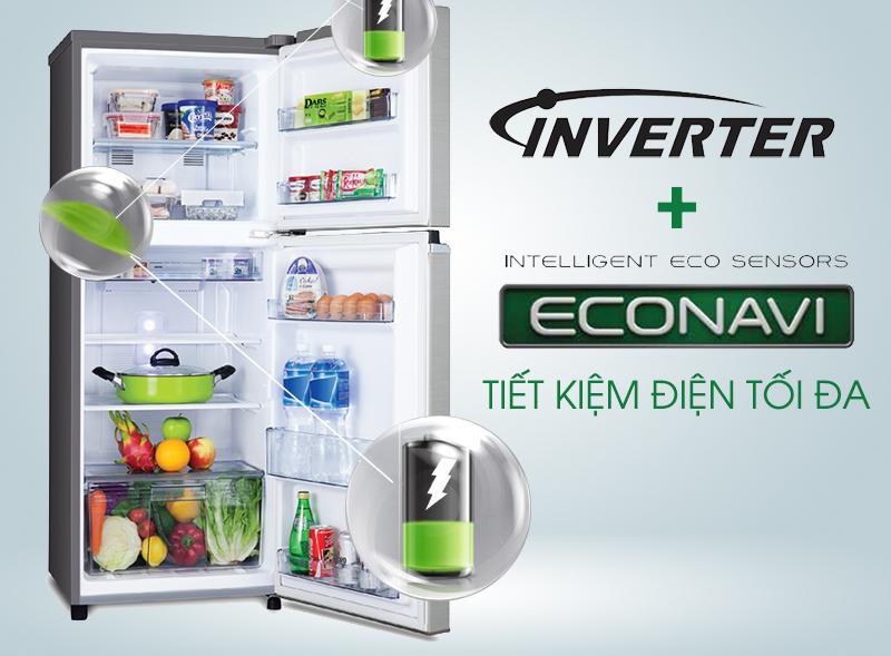 Tủ lạnh Panasonic 152 lít NR-BA178PSVN Tiết kiệm điện Inventer và econavi
