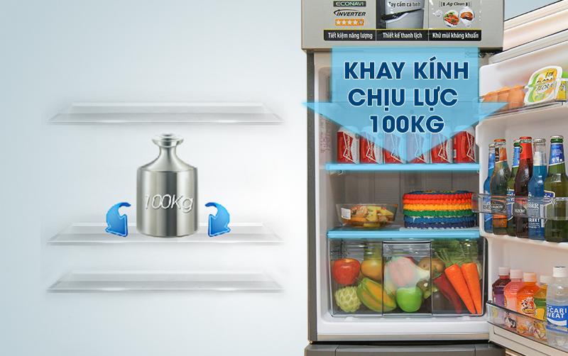 Tủ lạnh Panasonic 152 lít NR-BA178PSVN Khay kính chịu lực