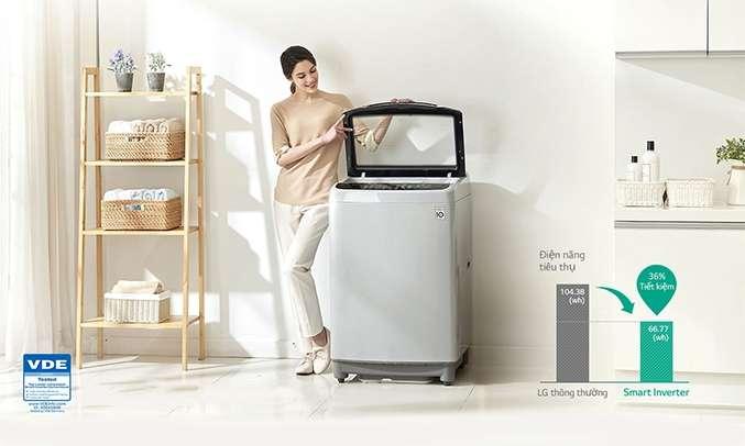 Máy giặt LG 10.5 kg T2350VS2W có công nghệ Smart Inverter