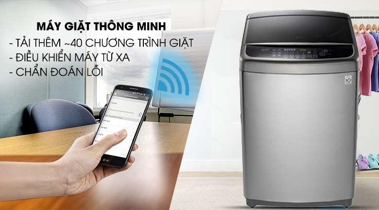Độc đáo với tính năng điều khiển từ xa bằng điện thoại - Máy giặt LG Inverter 12 kg TH2112SSAV