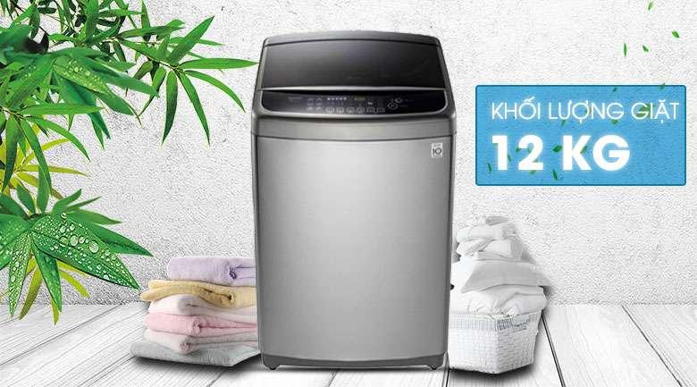 Thiết kế sang trọng và tinh tế, khối lượng giặt 12 kg - Máy giặt LG Inverter 12 kg TH2112SSAV