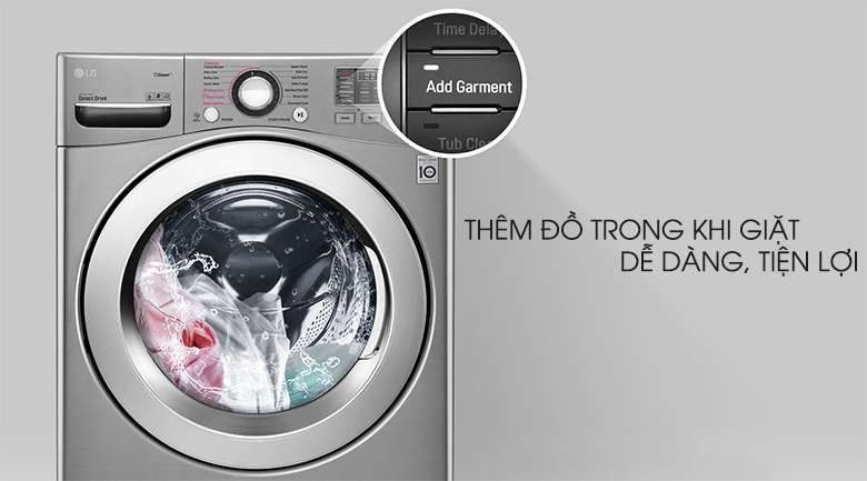 Thêm đồ tiện lợi - Máy giặt LG Twinwash Inverter F2719SVBVB & T2735NWLV