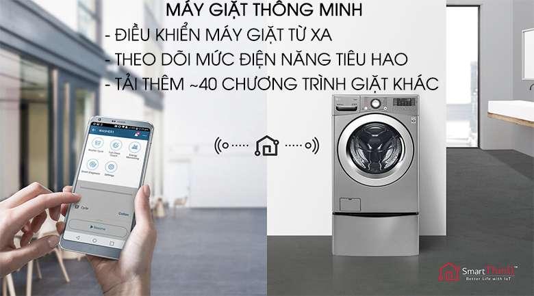 Máy giặt thông minh - Máy giặt LG Twinwash Inverter F2719SVBVB & T2735NWLV
