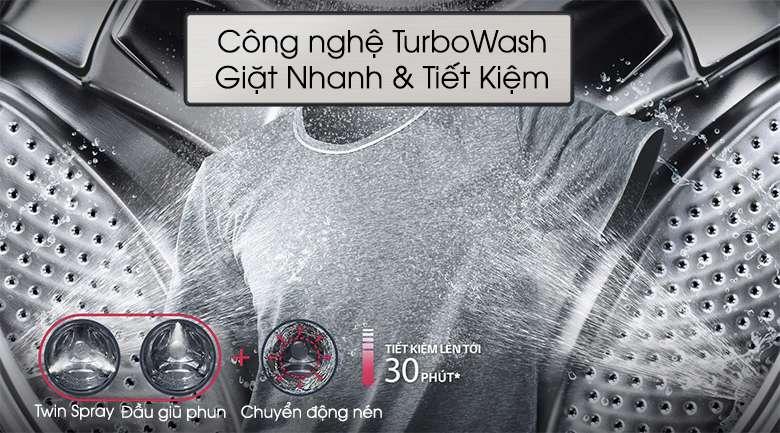Công nghệ TurboWash - Máy giặt LG Twinwash Inverter F2721HTTV & T2735NWLV