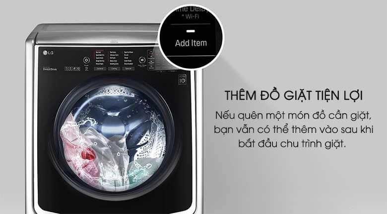 Thêm đồ giặt - Máy giặt LG Twinwash Inverter F2721HTTV & T2735NWLV