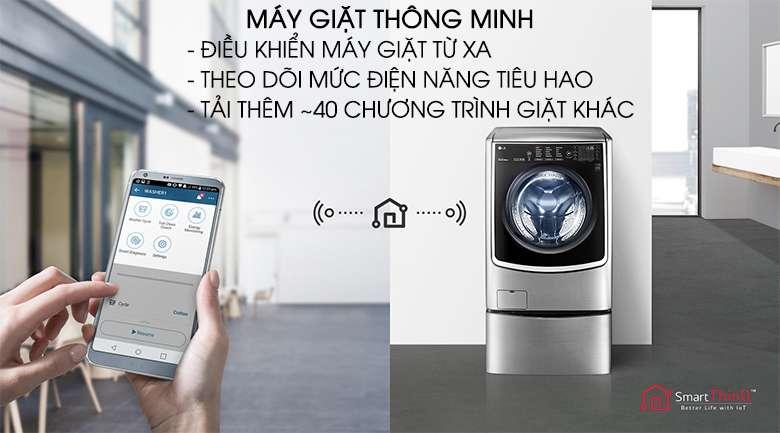 Chức năng chẩn đoán thông minh qua điện thoại - Máy giặt LG Twinwash Inverter F2721HTTV & T2735NWLV
